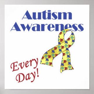 Conciencia del autismo cada día posters