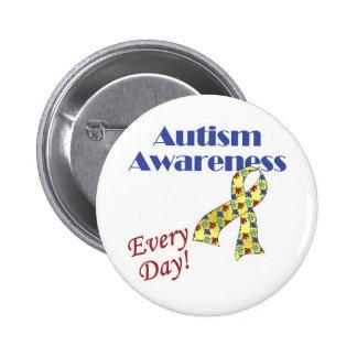 Conciencia del autismo cada día pin redondo 5 cm