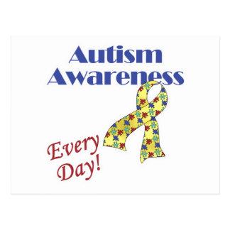 Conciencia del autismo cada día postales