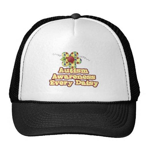 Conciencia del autismo cada margarita (día) gorras
