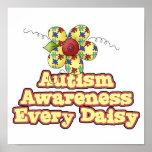 Conciencia del autismo cada margarita (día) impresiones