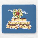 Conciencia del autismo cada margarita (día) alfombrilla de ratón