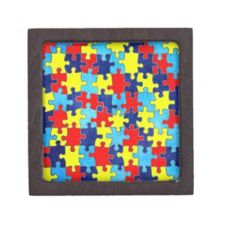 Conciencia del autismo caja de recuerdo de calidad