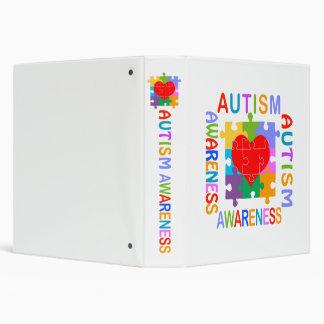 """Conciencia del autismo carpeta 1 1/2"""""""