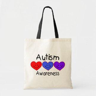 Conciencia del autismo (corazones) bolsas de mano