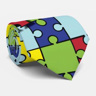 Conciencia del autismo corbata personalizada