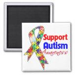 Conciencia del autismo de la ayuda iman de frigorífico