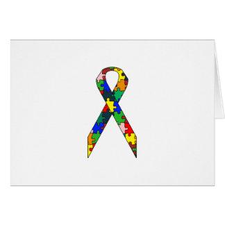 Conciencia del autismo de la cinta tarjeta de felicitación