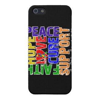 Conciencia del autismo de la curación del amor de  iPhone 5 protectores
