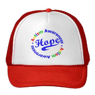 Conciencia del autismo de la esperanza gorros bordados
