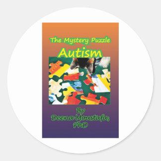 Conciencia del autismo de los productos pegatina redonda