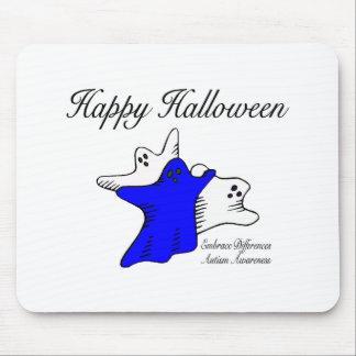Conciencia del autismo del feliz Halloween Tapete De Ratón