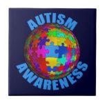 Conciencia del autismo del mundo azulejos ceramicos