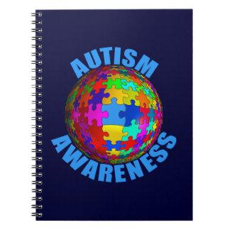 Conciencia del autismo del mundo libreta