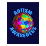 Conciencia del autismo del mundo plantilla de membrete