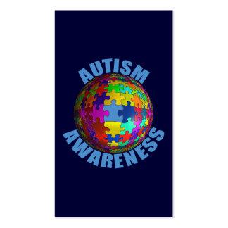 Conciencia del autismo del mundo tarjetas de visita