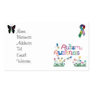 Conciencia del autismo en las tarjetas de visita