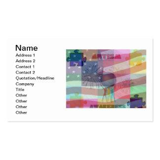 Conciencia del autismo en tarjeta de visita de Amé