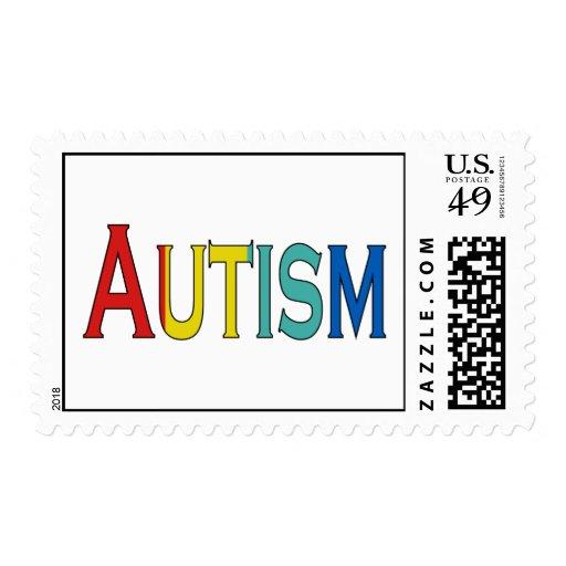 conciencia del autismo estampilla