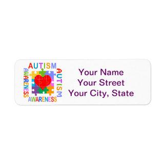 Conciencia del autismo etiquetas de remite
