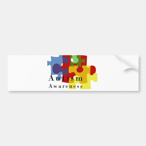 Conciencia del autismo etiqueta de parachoque