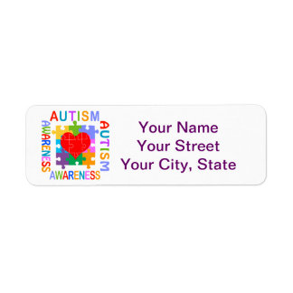 Conciencia del autismo etiqueta de remite