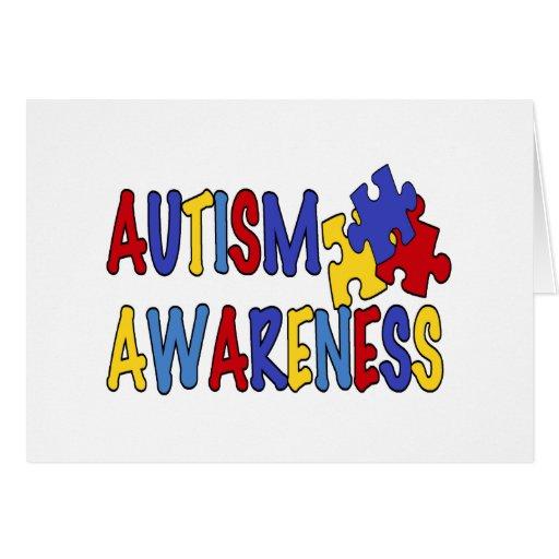 Conciencia del autismo felicitaciones
