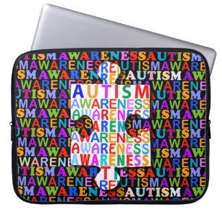 Conciencia del autismo funda ordendadores