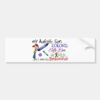¡Conciencia del autismo - hijo impresionante! Pegatina Para Coche