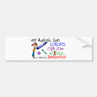¡Conciencia del autismo - hijo impresionante! Pegatina Para Auto