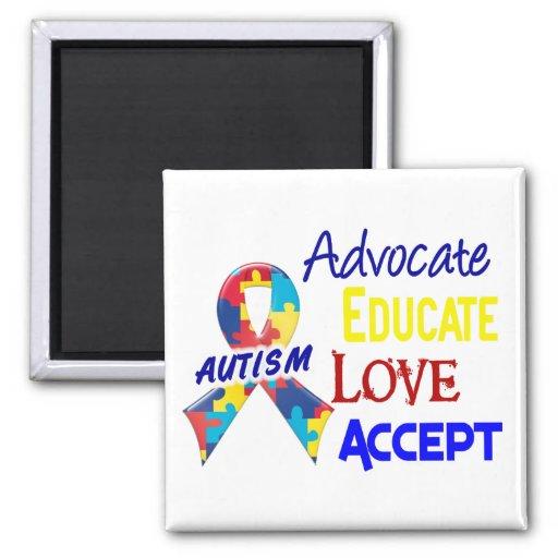 Conciencia del autismo imanes para frigoríficos