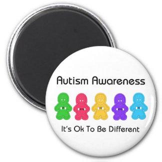 Conciencia del autismo imán redondo 5 cm