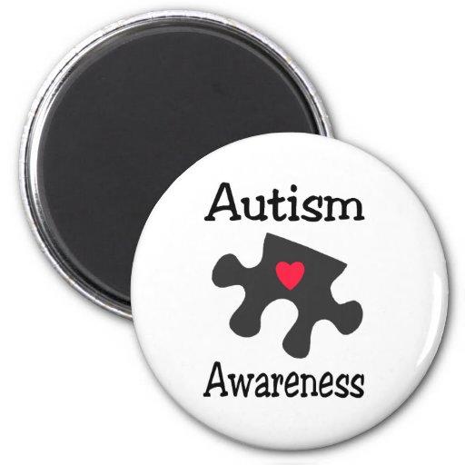 Conciencia del autismo imán para frigorífico