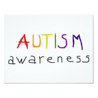 Conciencia del autismo invitación 10,8 x 13,9 cm