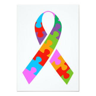 """Conciencia del autismo invitación 5"""" x 7"""""""