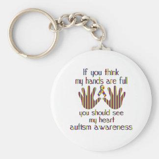 Conciencia del autismo llavero