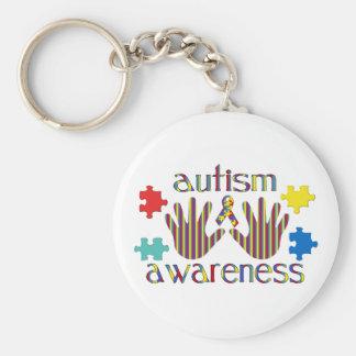 Conciencia del autismo llaveros