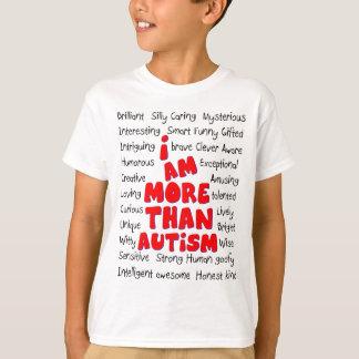 ¡Conciencia del autismo - más que autismo! Playera