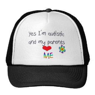 Conciencia del autismo - mis padres me aman gorro