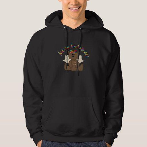 Conciencia del autismo (oso del chica) jersey con capucha