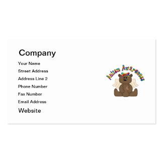 Conciencia del autismo (oso del chica) tarjetas de visita