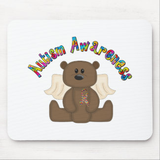 Conciencia del autismo (oso del muchacho) alfombrilla de raton