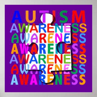 Conciencia del autismo posters