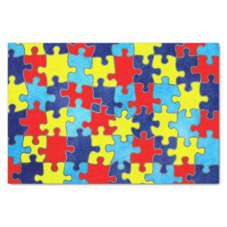 Conciencia del autismo papel de seda pequeño