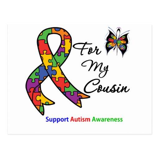 Conciencia del autismo para mi primo postales