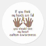 conciencia del autismo pegatina