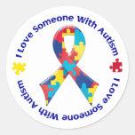 Conciencia del autismo pegatinas redondas