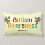 Conciencia del autismo (personalizable) cojines