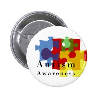 Conciencia del autismo pin redondo 5 cm