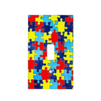 Conciencia del autismo placas para interruptor